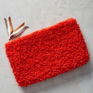 Bright Red Fuzzy Clutch
